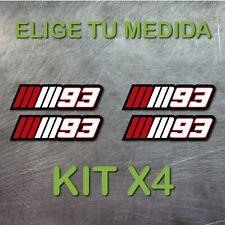 4x PEGATINA MARC MARQUEZ  NUMERO 93 MM93 MOTOGP GP VINILO STICKER DECAL BLANCO