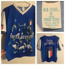 Vtg FIFA World Cup Forza Azzurri Italia Shirt Soccer Sz S Jersey Made In Italy