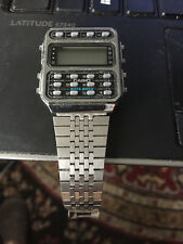 Vintage Men's Watch CASIO CD 401 246 Japan Made Calculator Timepiece Retro