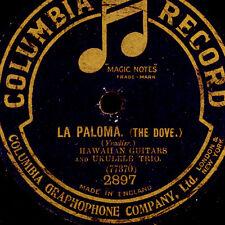 LA PALOMA ---  Hawaiian Guitars & Ukulele Trio auf Schellackplatte 78rpm  S8300