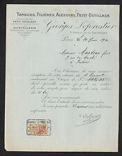 """PARIS (XI°) QUINCAILLERIE TAILLANDERIE OUTILLAGE """"Georges LEFORESTIER"""" en 1920"""