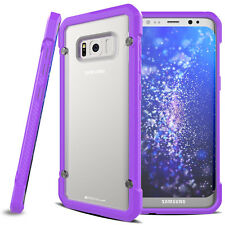Samsung Galaxy S8 Plus Fusion Armour Premium Slim Hybrid Protective Case Cover Purple/frost