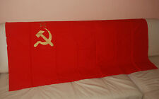 1 x SOVIET BIG FLAG. ORIGINAL. RED COTTON (CHINTZ). MADE IN USSR. NEW. 80x160 cm