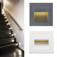 LED Wandeinbauleuchte Stufenleuchte Treppenlicht Beleuchtung Lampe Alu 230V IP65