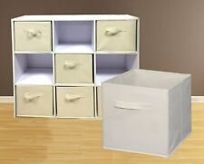 3PK Folding Fabric Cube Storage Collapsible Bins Box Clothes Organizer Container