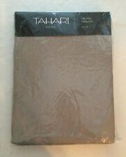 "Tahari Home Oblong Tablecloth 60"" X 120"" Subtle Metallic Silver  Linen Blend NIP"