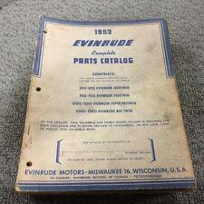 1953 EVINRUDE COMPLETE PARTS CATALOG