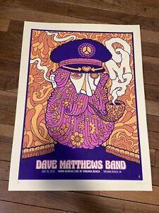Dave Matthews Band Poster 2013 Virginia Beach VA Peacelove Signed AP Mint Rare