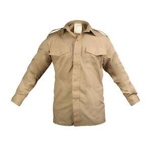 Original Britische Armee Hemd Militär Langarm Kampf Uniform Kleid Beige Neu