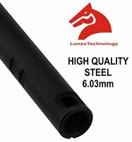 AIRSOFT INNER BARREL 6.01 6.3 6.03 TIGHT BORE UK 285 MM STEEL LONEX ASG M SERIES