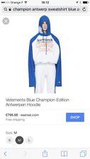Vetements Champion blue Edition Antwerpen Hoodie