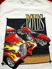 VINTAGE BOYDS HOT RODS & HARLEY'S BOYD LABEL SIZE LARGE