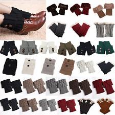Women Warm Knit Cuffs Toppers Boot Socks Ladies Crochet Leg Leggings Soft Cover
