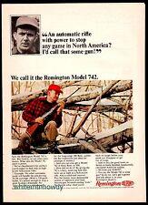 1965 REMINGTON Model 742 Rifle AD Vintage Hunting Gun Advertising