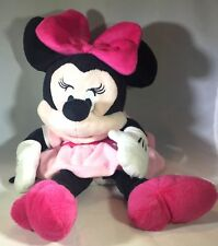 Disney Baby Minnie Mouse Hand Puppet Plush 14 inch Pink Soft Toy