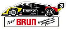 Team Brun Porsche TORNO  Sticker Aufkleber