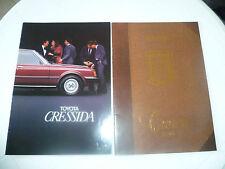 catalogues commercial TOYOTA CRESSIDA et CROWN  années 80