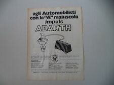 advertising Pubblicità 1978 ABARTH IMPULS