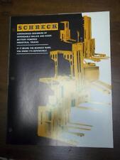 Shreck Industrial Truck Brochure~Lift Pallet/Platform~Order Picker~Tractors