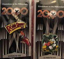 Six Disney Pins (6) Jess Rabbit Millennium #30 Plus #33 #75 #83. Plus 2