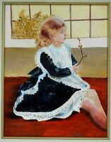 "M. JANE DOYLE SIGNED ORIGINAL ART OIL/CANVAS PAINTING ""BETSY"" (PORTRAIT) FRAMED"