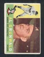 1960 Topps #427 Al Grunwald VG/VGEX RC Rookie Athletics 48594