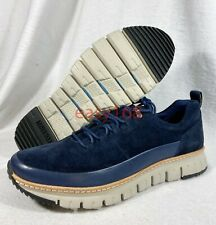 New Cole Haan Grand Rugged Oxford Sz 10 Blue Suede Leather Zero Men's C28469