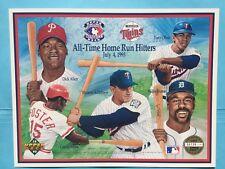1993 Home Run Heroes Minnesota Twins Upper Deck Sheet  UD SGA MN Tony Olivia