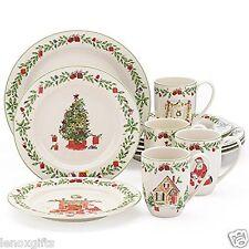 LENOX Holiday Illustrations 12 Pc Dinnerware Set   4 DINNER 4 SALAD 4 MUG NeW