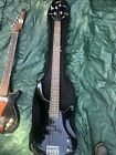 BLACK LYON BASS RIGHT HANDED GUITAR, With Softcase for sale