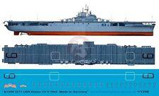 Peddinghaus 1/1250 USS Essex (CV-9) USN Aircraft Carrier Markings 1942 WWII 3277