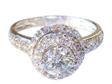 1.60ct Solitaire Diamant Bague 14K Or Blanc