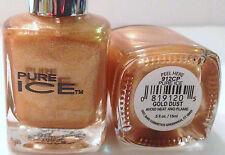 Bari Pure Ice Nail Polish Nail Enamel # 912Cp Gold Dust Shimmery Gold Htf
