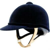 Charles Owen Wellington Classic Velvet Horse Riding Hat Helmet Ventilated