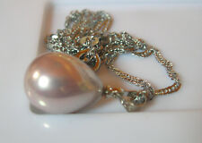 PENDENTIF PERLE LAVANDE 16x12mm... SOUTH SEA SHELL PEARLS
