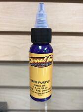 "Eternal Tattoo Ink ""Dark Purple"" 1 Oz Bottle 100% Authentic Free Shipping!!!"