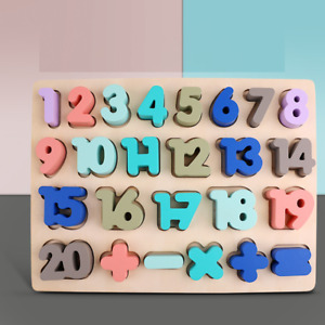 Pull Out Numbers Math 0-20 Puzzle Children Educational Jigsaw