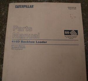 CAT Caterpillar 416D Backhoe Loader Parts Manual Book list spare catalog 2002