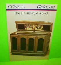 NSM Consul Classic ES 160 Original 1980 German Phonograph Jukebox Music Flyer