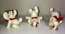 Vintage 3Pc Fitz And Floyd Ff 1978 Tumbling Elephants Christmas Figurines 19/233