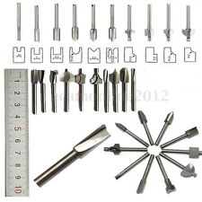 10PZ SET 1/8'' 3MM HSS PUNTE FRESA ACCESSORI PER MINI TRAPANO UTENSILE
