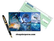 dauphins 01-007 protège porte chéquier format portefeuille