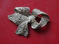 Große Brosche 800 Silber mit Markasiten, Frankreich