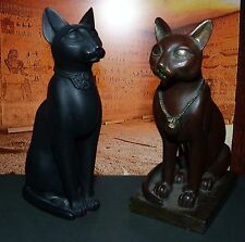 2 Vintage Egyptian Statues of Ancient Egyptian Cat Goddess Bast