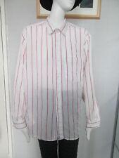 ALTERNATIVE CLOTHING, WHITE/PINK STRIPED L/SLEEVED, POLYCOTTON SHIRT Size 15.5