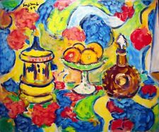 "Wayne Ensrud, ""Lalique Vase Still Life"" - Original Acrylic on Canvas"
