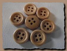 LOT 10 BOUTONS Bois naturel 15 mm  4 trous  button 1,5 cm décoration