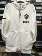 adidas la galaxy Traveling Jacket Hoodie White 19/20  Size Mans  Medium Only