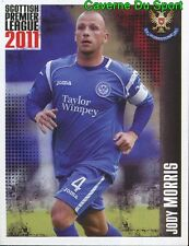 452 morris england st johnstone fc sticker. scottish premier league 2011 panini