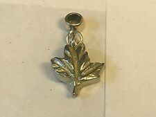 Sm Maple Leaf TG241 Charm with 5mm Hole fit Charm Bracelet